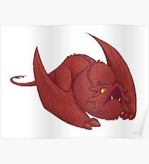 Little Smaug - Pixel Dragon Poster