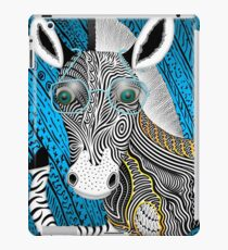 Portrait Of The Artist As A Young Zebra iPad Case/Skin