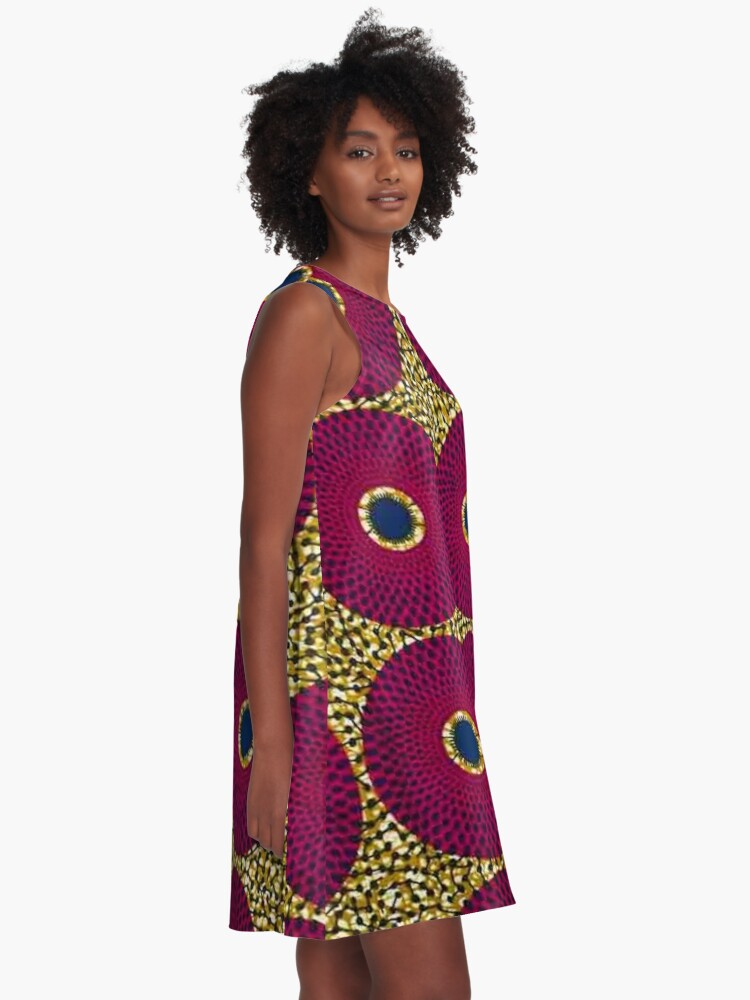 Alternate view of Africa fabric A-Line Dress