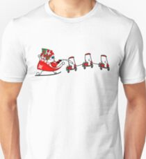 Santa's Sleigh Golf Cart Golf Lover Christmas  T-Shirt