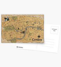 Karte von London - Tolkien inspiriert Postkarten