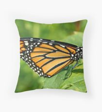 Monarch Wing Detail Throw Pillow