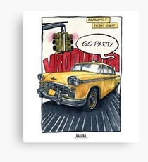 Taxi - go party Canvas Print