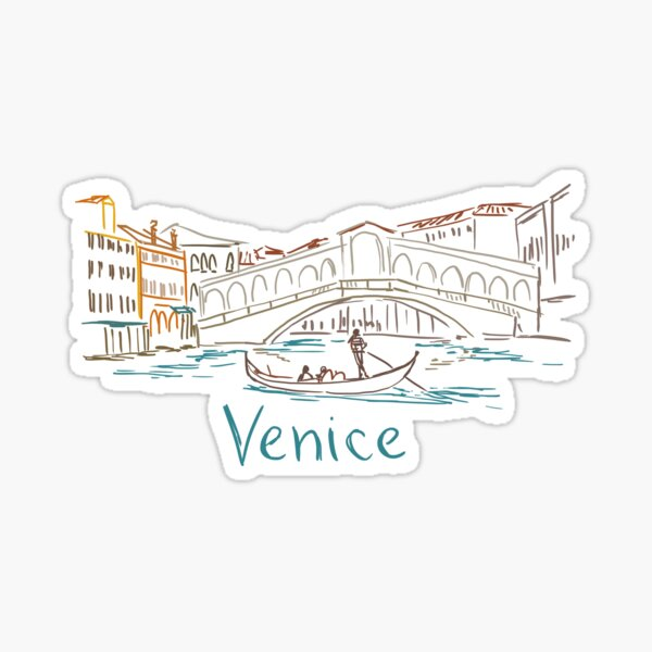 Venice Venezia Panorama Sticker
