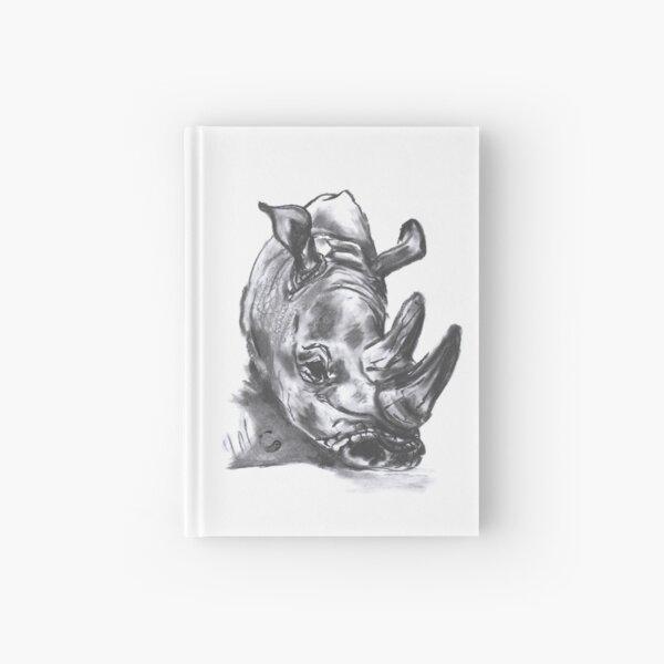 Rhino - Charcoal Animals Hardcover Journal