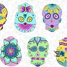 White Sugar Skulls by Kristin Omdahl