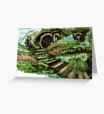 New York Tolkien Conference 2015 Bag End Logo Greeting Card