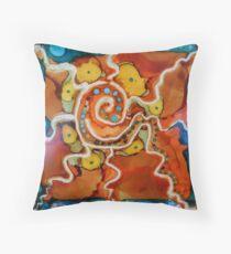 Swirly Swirls Blips & Blops Throw Pillow