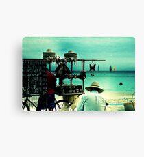 beach vendors Canvas Print