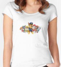 Pfote Patrol Tailliertes Rundhals-Shirt