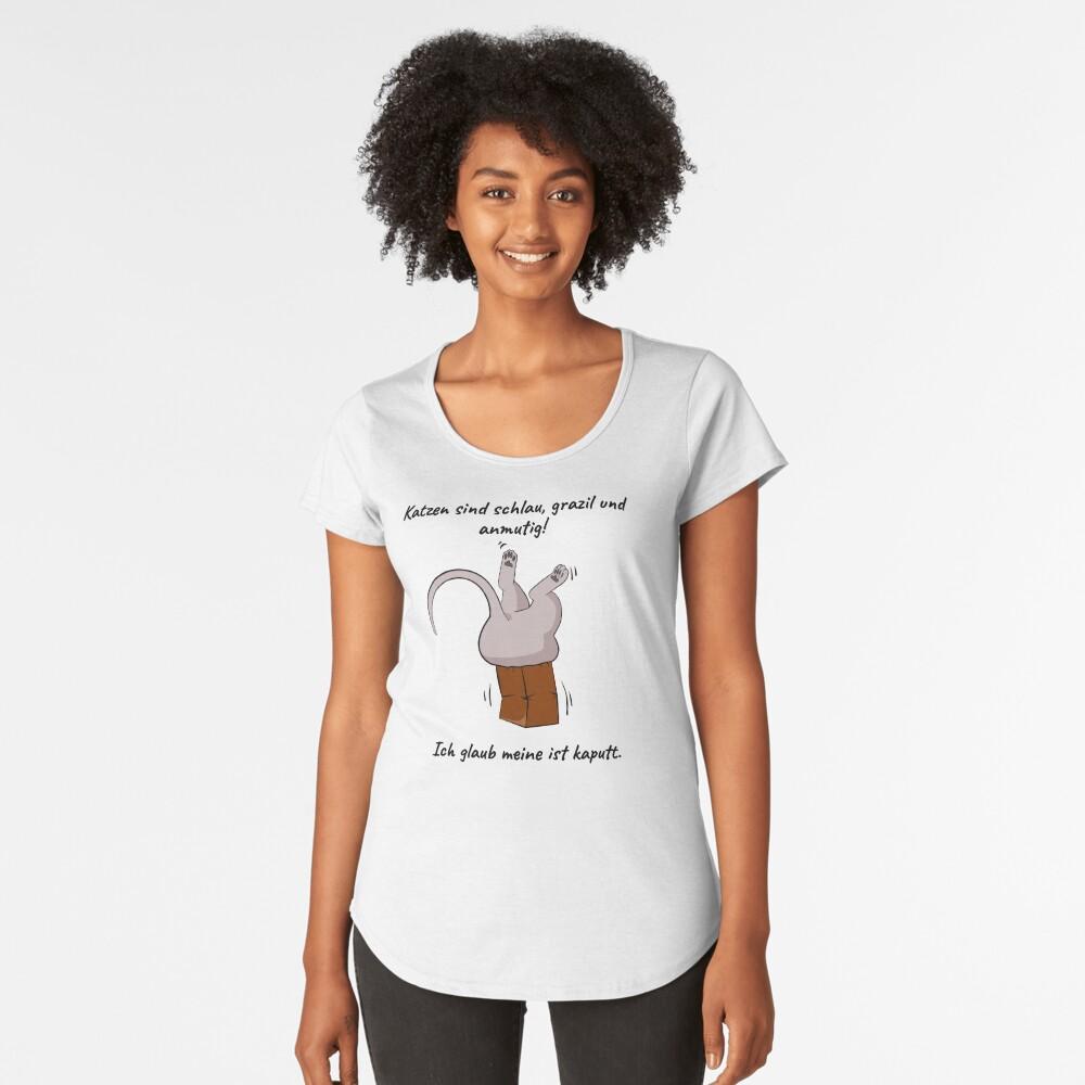 Katzen sind grazil, anmutig und schlau! Premium Rundhals-Shirt