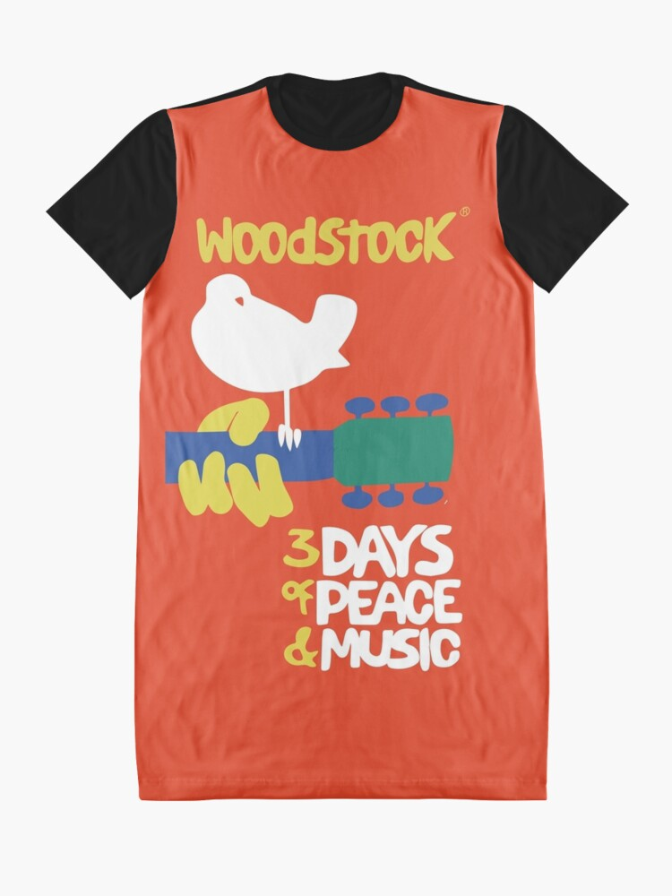 Alternate view of Woodstock 1969 Graphic T-Shirt Dress