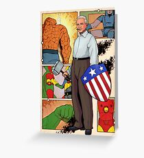 Jack Kirby, The men and the Legend. Greeting Card