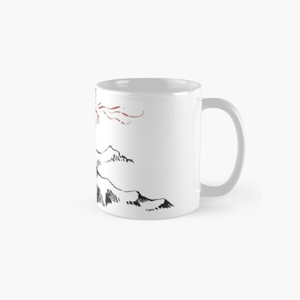 Red Dragon Above A Single Solitary Peak - Fan Art Classic Mug
