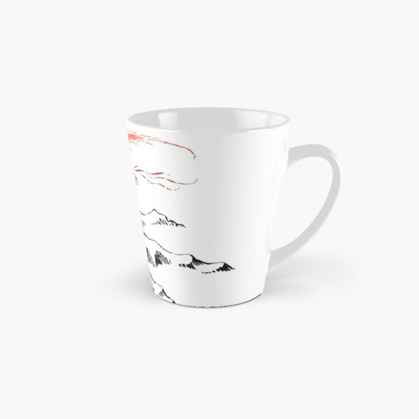 Red Dragon Above A Single Solitary Peak - Fan Art Tall Mug