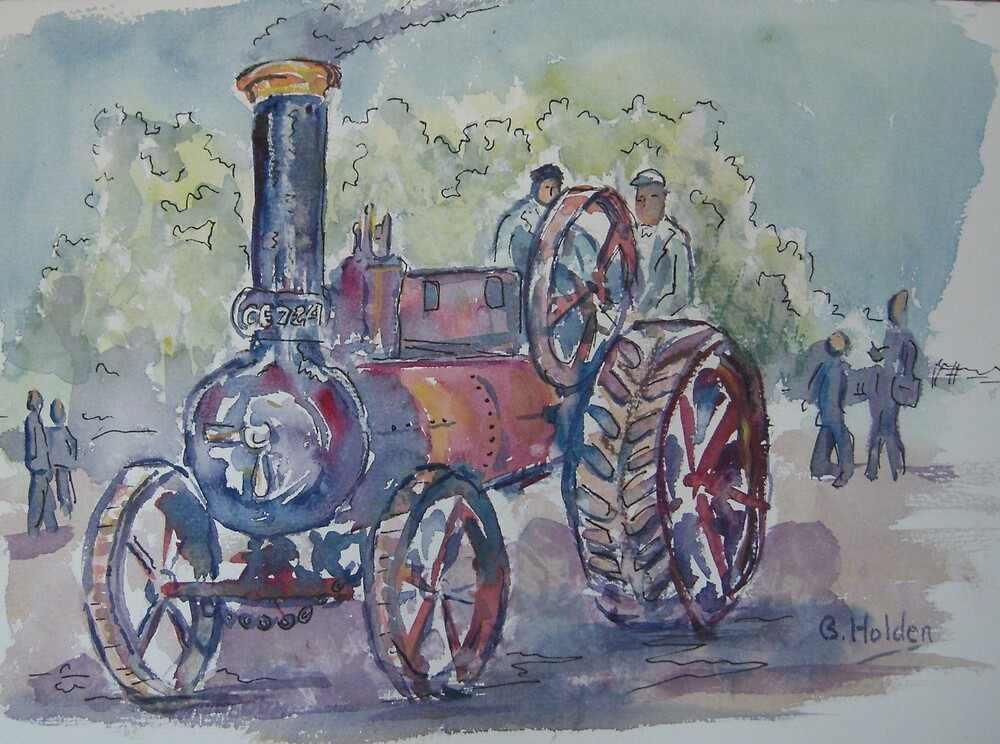 Traction Engine by BRIAN HOLDEN