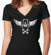 Biker Spirit Women's Fitted V-Neck T-Shirt