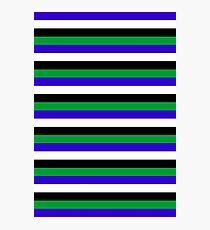 Lesotho flag stripes Photographic Print