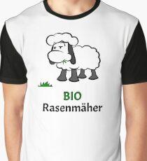 Bio Rasenmäher Schaf Grafik T-Shirt