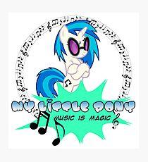 my little pony music is magic Photographic Print