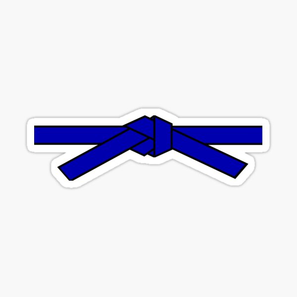 Blue belt Sticker