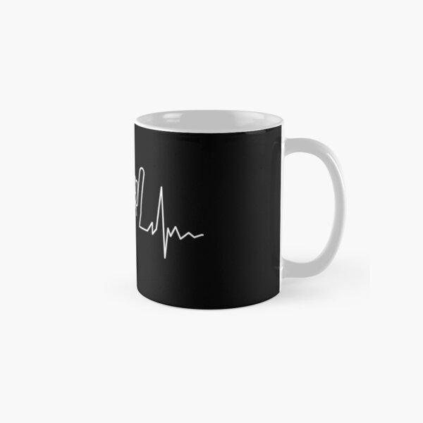 Heavy metal heartbeat Classic Mug