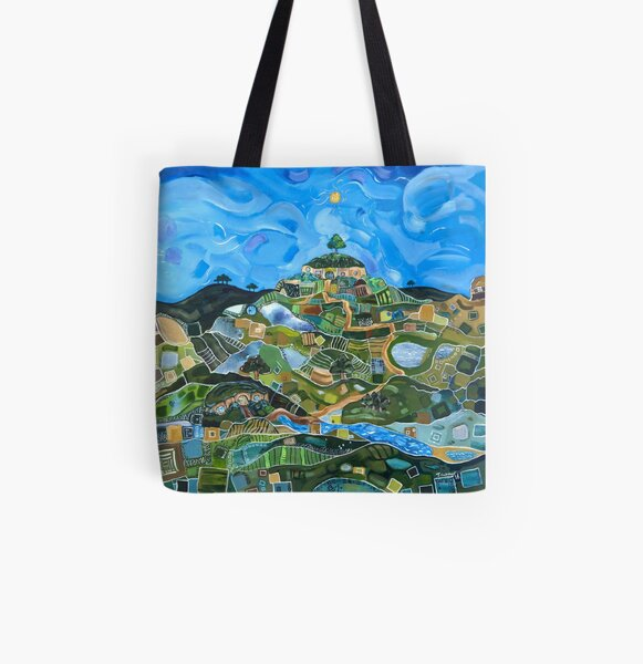 September in the Shire All Over Print Tote Bag