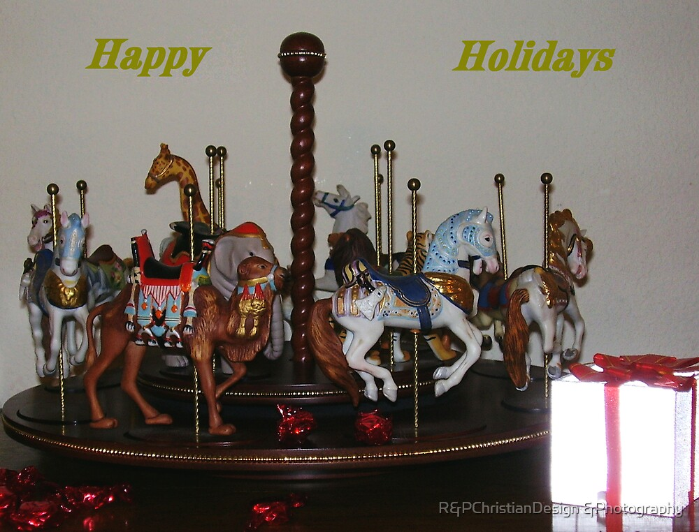 Carosel Christmas Card by R&PChristianDesign &Photography