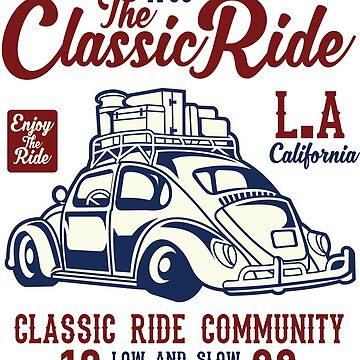 Classic Ride LA Beetle Bug T Shirt by webeller
