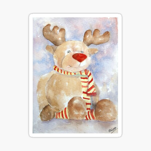 Rudy Reindeer Sticker