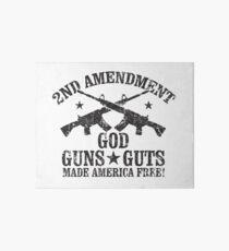God Guns Guts Art Board