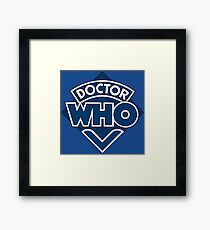 Doctor Who Classic Logo Framed Print