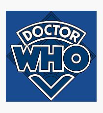 Doctor Who Classic Logo Photographic Print