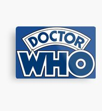 Classic Doctor Who Book Logo Metal Print
