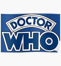 Classic Doctor Who Book Logo Poster