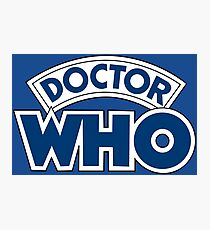 Classic Doctor Who Book Logo Photographic Print