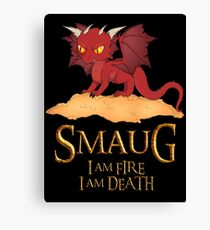 Smaug The Dragon Canvas Print
