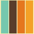 1970's Color Palette Retro Stripe Pattern by Mikhail Siskoff