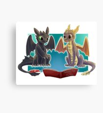 Spyro & Toothless Canvas Print