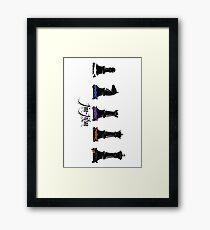 jiu jitsu chess Framed Print