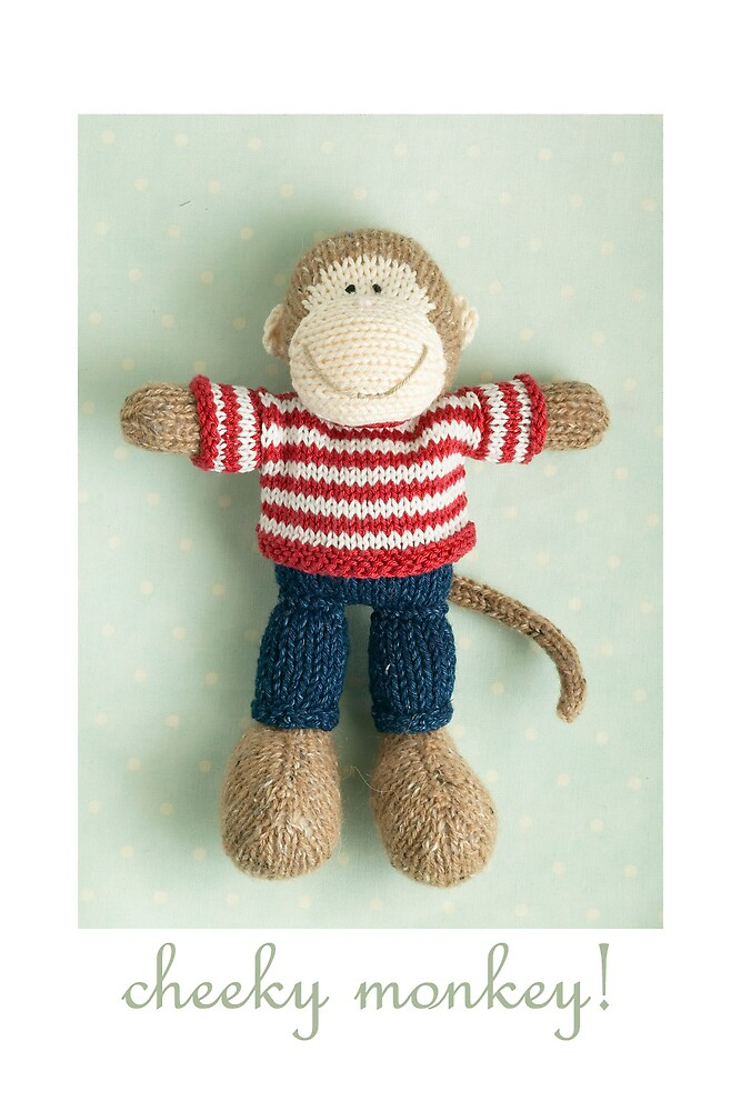 cheeky monkey by bunnyknitter