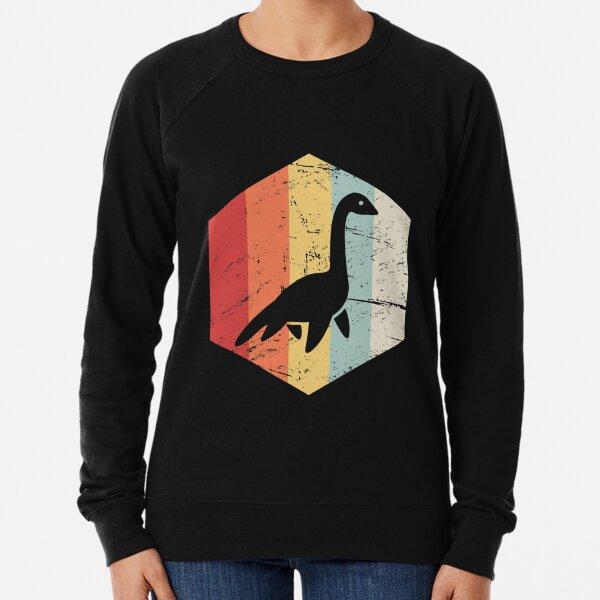 Retro 70s Loch Ness Monster Icon Lightweight Sweatshirt