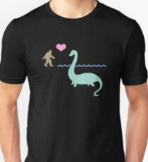 Bigfoot And The Loch Ness Monster Unisex T-Shirt