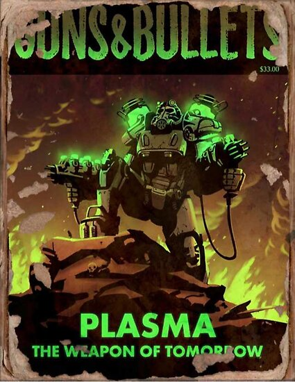 Fallout 4 Guns and Bullets Plasma Weapons of Tomorrow Poster  by DigiArtyst