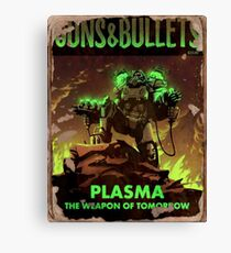Fallout 4 Guns and Bullets Plasma Weapons of Tomorrow Poster  Canvas Print