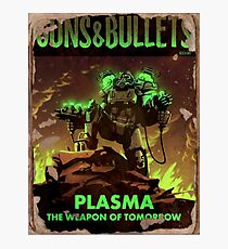 Fallout 4 Guns and Bullets Plasma Weapons of Tomorrow Poster  Photographic Print