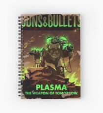 Fallout 4 Guns and Bullets Plasma Weapons of Tomorrow Poster  Spiral Notebook