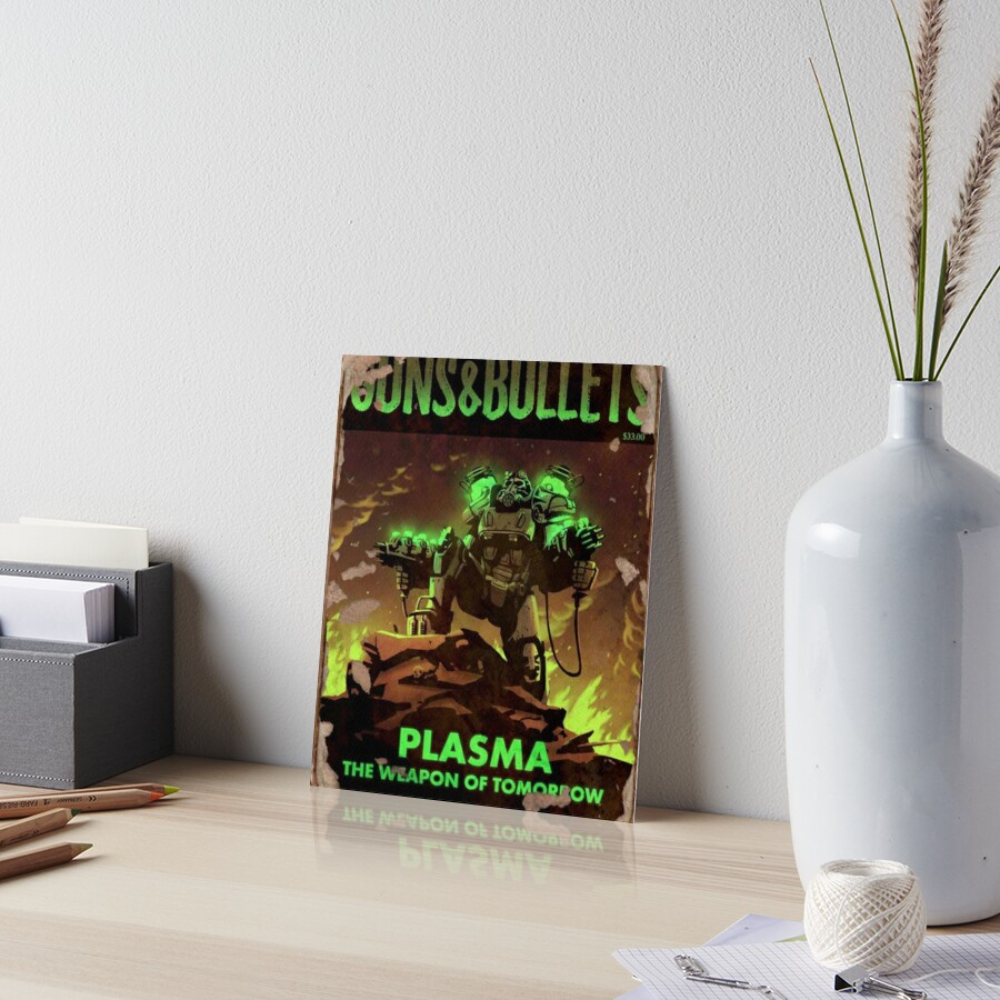 Fallout 4 Guns and Bullets Plasma Weapons of Tomorrow Poster  Art Board Print