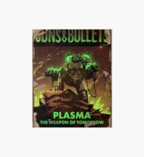 Fallout 4 Guns and Bullets Plasma Weapons of Tomorrow Poster  Art Board