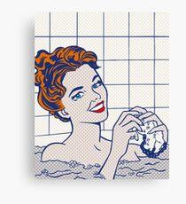 Woman in Bath (Lichtenstein) Canvas Print